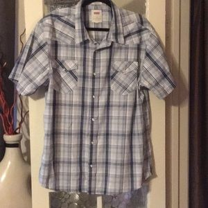 Double xl Levi western shirt with pearl snaps